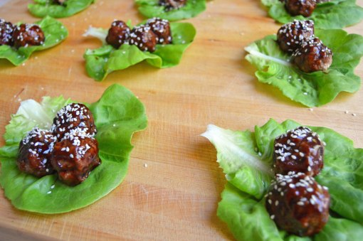 Asian Meatball Lettuce Wraps