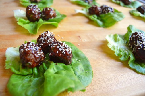Meatballs with Hoisin Blackberry Glaze
