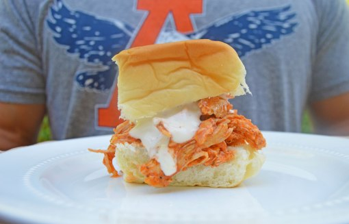Hot wing slider on a plate