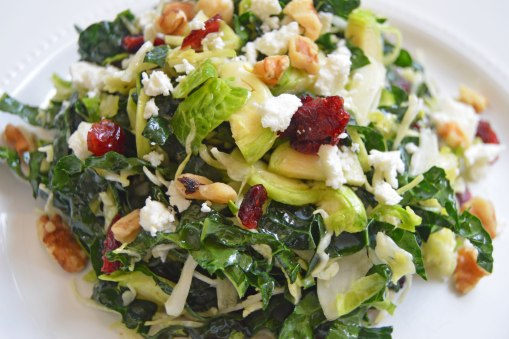 brussels and kale winter salad